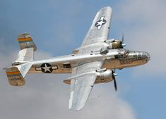 """the B-25 Mitchell bomber """"Miss Mitchell"""" (Highlights of the Commemorative Air Force Midland Airshow, UK)."""