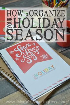 Longing for a holiday filled with more joy and less stress this year?  Don't miss these helpful step by step instructions for exactly how to organize your holiday season using our FREE holiday planner.  From determining your priorities and creating a gift list to planning your menu and tracking your budget, you'll find everything you need to eliminate the overwhelm and focus on what matters most.