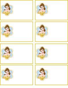 Free Printable Disney princess sleeping beauty  name tags