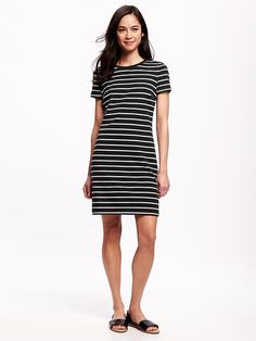 Striped Jersey T-Shirt Dress for Women Product Image