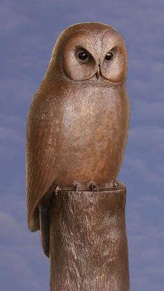 #Bronze #sculpture by #sculptor Ernst Paulduro titled: 'Tawny Owl (life size…