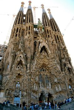 La Sagrada Familia, Antoni Gaudi- Barcelona, Spain...breathtaking. It's not even supposed to be finished until 2021, oh Gaudi if only we knew how you wanted to finish it...