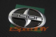 Scion Carbon Fiber CF Rear Lid Trunk Emblem Decals Insert Filler xD xB tC 2 Door