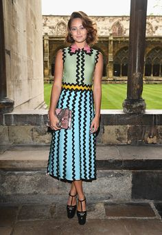 Ella Purnell attends the Gucci Cruise 2017 fashion show at the Cloisters of Westminster Abbey on June 2 2016 in London England