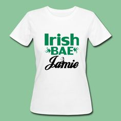"Jamie Dornan Shirts and Gifts: ""Irish Bae Jamie"" - beautiful design on more than 20 high quality products for all fans of wonderful Irish actor Jamie Dornan. #jamiedornan #fun #irish  merchandise #fan #support #shirts #gifts"