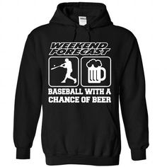 BASEBALL WITH A CHANCE OF BEER T Shirts, Hoodie. Shopping Online Now ==► https://www.sunfrog.com/Funny/BASEBALL-WITH-A-CHANCE-OF-BEER-6250-Black-Hoodie.html?41382