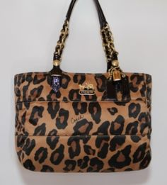 Coach - Madison Ocelot Leopard Animal Print East West Tote - You can find this and more at www.handbagconsignmentshop.com