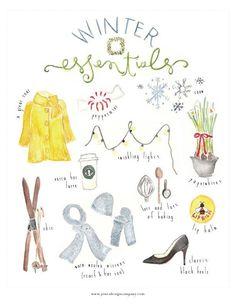 winter essentials {freebie art print} | jones design company