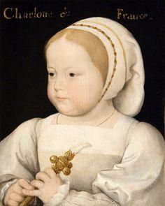 """CLOUET François - (Tours 1515-1572 Paris) - Charles IX et les arts: ce prince, qui avait reçu les leçons de Jacques Amyot, était instruit et cultivait les arts:on a de lui de jolis vers et un """"traité de la chasse royale"""" publié pour la 1° fois en 1625. Guillaume-Gabriel Le Breton fit représenter devant lui,en 1569, sa tragédie Adonis."""