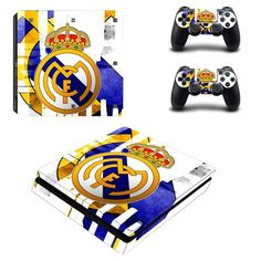 Real Madrid C.F Play Station 4 slim skin decal for console and 2 controllers