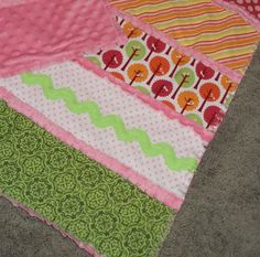 Minky Rag Quilt Tutorial --Strips rather than squares