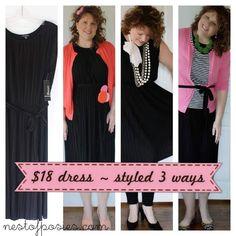 inexpensive dress ~ styled 3 ways