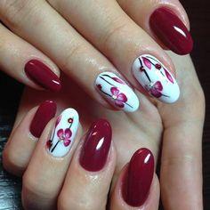Бордовый маникюр 2018-2019 - фото, модный бордовый дизайн ногтей - новинки, идеи бордового маникюра