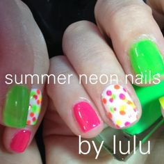Neon nail art for summer