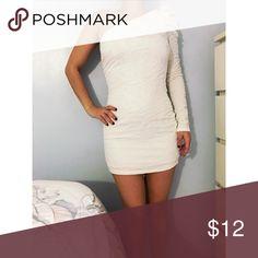 One shoulder dress One shoulder white mini dress Forever 21 Dresses Mini