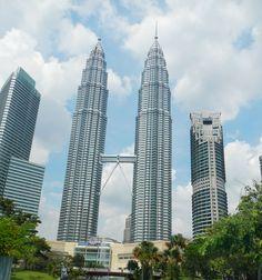 Les Tours Petronas (451,9 m, Kuala Lumpur/Malaisie, 1998)