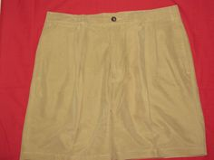 NORTH FORTY FOUR 44 Pleated Front Golf Dress Shorts Sz 38 Tan Beige Nice #NorthFortyFour #DressShorts