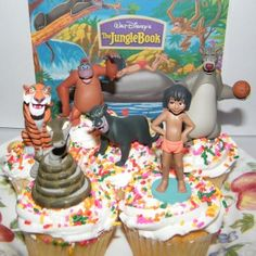 Disney-Jungle-Book-Cake-Toppers-Cupcake-Party-Favor-Decorations-Set-of-6-with-Mowgli-Bagheera-Baloo-King-Louie-the-Orangutan-and-M…