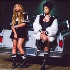 Nicki Minaj and Beyonce for the Feeling Myself video 2015