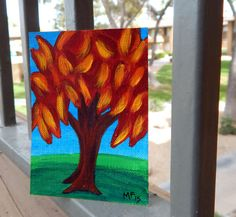 ACEO  Tree Painting  Original Art  aceo painting  by HeartsAndKeys