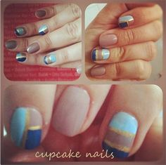 In Blue - cupcake nails