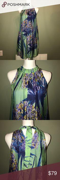 Selling this Halter dress, floral print on Poshmark! My username is: leilani888. #shopmycloset #poshmark #fashion #shopping #style #forsale #zara woman #Dresses & Skirts