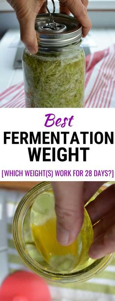 Discover the best fermentation weight for mason jar fermenting. 7 different weights tested over 28 days. Safely below the brine? No brine overflow? No mold? Pickle Pusher by Ultimate Pickle Jar? Homemade Sauerkraut, Sauerkraut Recipes, Fermented Cabbage, Fermented Foods, Kimchi, Probiotic Drinks, Fermentation Recipes, Bokashi, Pickle Jars