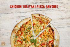 Aroma chicken teriyaki pizza Teriyaki Chicken, Cafe Restaurant, Vegetable Pizza, Vegetables, Food, Meal, Essen, Vegetable Recipes, Hoods