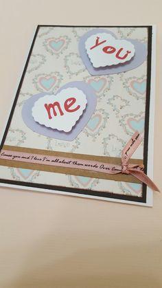 Cartão de scrap para o dia dos namorados