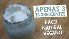 #4 Aprendendo como fazer HIDRATANTE CORPORAL potente 1/2 xícara de manteiga de karitê 1/4 xícara de óleo de coco 1 colher de sopa de óleo de amêndoa