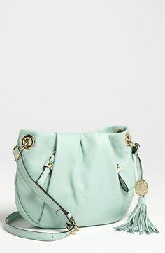 mint crossbody bag.