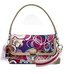 Coach Limited Edition Poppy Pop C Layla Flap Shoulder Handbag - Coach 18363PNK