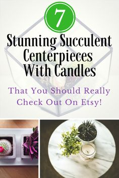 If you want original decoration ideas and inspiration have a read through this roundup of 7 stunning succulent centerpieces with candles. https://withnaturalgusto.com/7-stunning-succulent-centerpieces-with-candles/ || wedding ideas elegant centerpieces