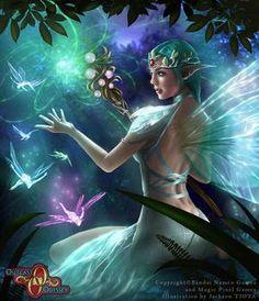 Fairy-Herder by tjota on DeviantArt Magical Creatures, Fantasy Creatures, Fantasy World, Fantasy Art, Elfen Fantasy, Elves And Fairies, Fairy Pictures, Love Fairy, Beautiful Fairies