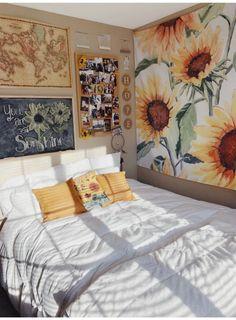 18 Cool Bedroom Decor in Your Home - Bedroom Design Cozy Room, Bedroom Design, Room Inspiration, Dorm Room Decor, Bedroom Decor, Cool Rooms, Aesthetic Bedroom, Room Decor, Apartment Decor