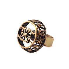 "Pentti Sarpaneva ""Pitsi"" Ring Heart Beating Fast, Marimekko, Rings For Men, Jewelry Design, Wedding Rings, Bronze, Brass, Stud Earrings, Ceramics"
