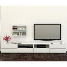 Nexera Blvd White Rectangular Television Cabinet 400526