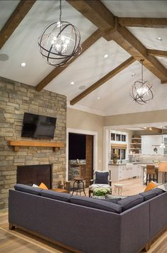 Track lighting installed to wash the vaulted ceiling with light and lighting can really make a room pop especially when its these crystorama vaulted ceiling lightingliving room recessed aloadofball Gallery