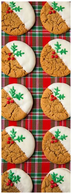 Let the holiday baking begin and let these cookies be at the top of that holiday baking list! These cookies will simply tantalize to your taste buds because they are anything but boring. These White Chocolate Dipped Ginger Cookies are oh so dreamy! Best Holiday Cookies, Holiday Cookie Recipes, Christmas Sugar Cookies, Christmas Sweets, Christmas Cooking, Holiday Desserts, Holiday Baking, Holiday Treats, Gingerbread Cookies