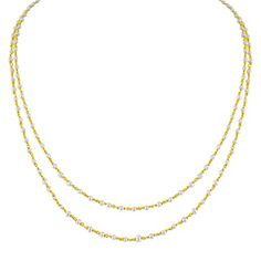 Jpearls 2 Lines Pearl Gold Chain