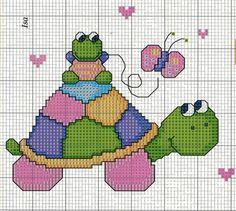 Ponto cruz de tartaruga