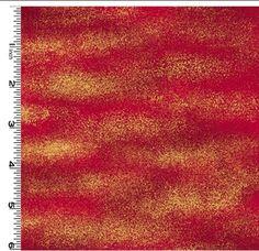 Kona Bay - Dragon Clouds - Red & Gold - Last 2 1/2 yards :