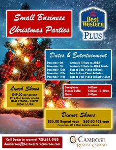 Why not let us host your company's Christmas Party this year?