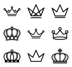 Free vector icons of royal crown Simple Crown Tattoo, Crown Tattoo Design, Queen Drawing, Crown Drawing, Tattoo Lettering Fonts, Graffiti Lettering, Small Tats, Tattoos For Women Small, Mini Tattoos