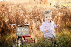 Blog 4 Christmas Photo Ideas for a toddler boy, Anne Wilmus Photography, best baby photographer pittsburgh, 18 months