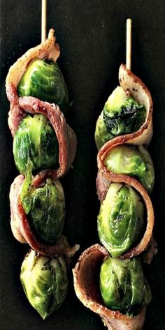 Bacon and Brussels Sprouts Skewers