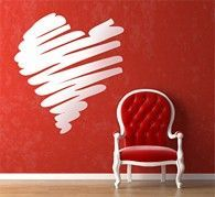 Stunning Valentine wall art for home decor is that kind of amazing romantic house decorations that plays the grand stage for your magical Valentine's Day celebrations Love Stickers, Wall Stickers, Wall Decals, Wall Art, Saint Valentine, Valentines Day Hearts, Red Walls, Home Art, Gifts For Him