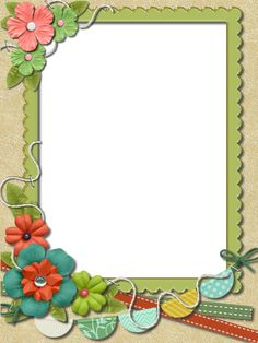 Frame Border Design, Boarder Designs, Page Borders Design, School Photo Frames, School Frame, Flower Boarders, Flower Frame, Birthday Calendar Classroom, Boarders And Frames