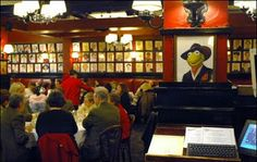 Sardi's Restaurant. With a drawing of Mr. Kermit the Frog.