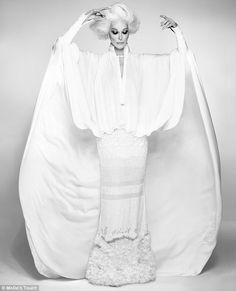 Carmen Dell'Orefice, 84 - Top Female Supermodels Over 60...OMG beautiful both Carmen and the garment. Imagine this in bridal fabric with embellishment to fit your style. Let us recreate this silhouette for your for that special day.